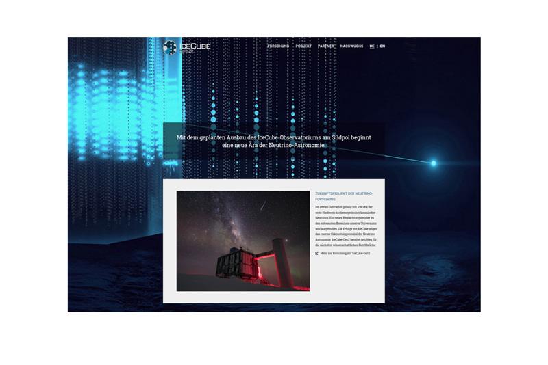 Webpräsenz: IceCube-Gen2-Projekt