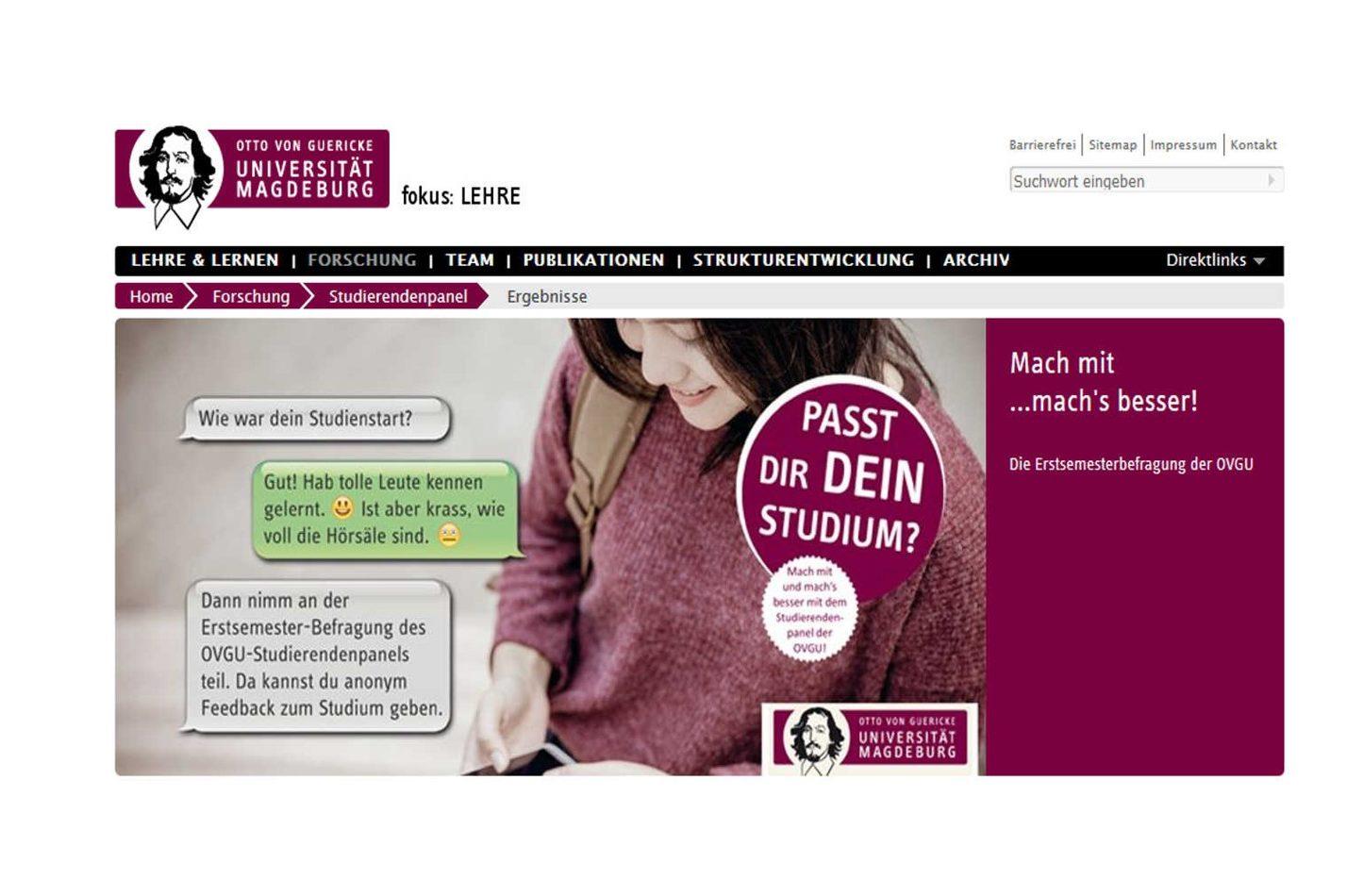 Kommunikationskonzept für Studierendenpanel